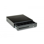 Posiflex CR6315B PC Driven Cash Drawer, USB interface, 16.85 in. - 18.11 in. - 3.94 in., Black, Self Powered