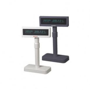 Posiflex PD2600S Pole Display, 2 x 20 VFD, 9mm Char., Serial, 300mm pole w/stand, PS, Black