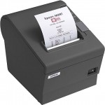 Epson TM-T20II-WIFI Thermal Printer, T20II, WiFi Interface, A/C, PS included, Black, Cable & Wallmount Bracket Included