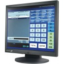 Logic Controls LE1017, 17 in. Touch Screen Monitor, USB, Black